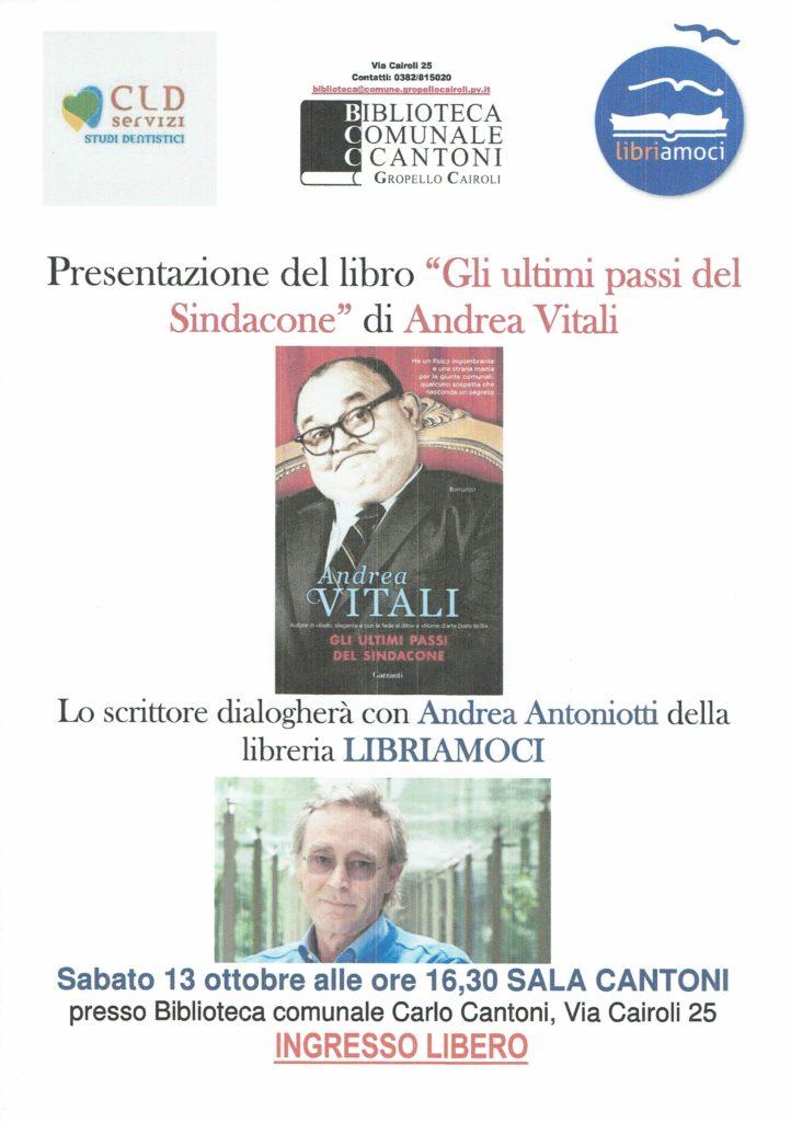 Locandina Presentazione Libro Andrea Vitali