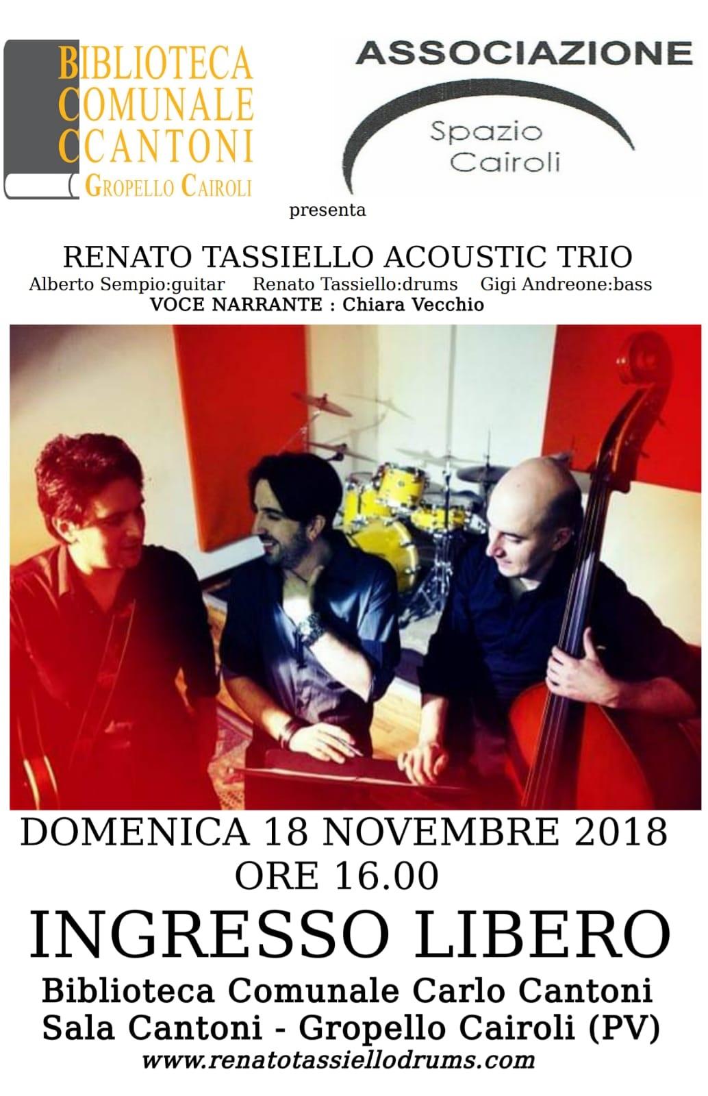 Locandina Concerto Renato Tassiello Acoustic Trio