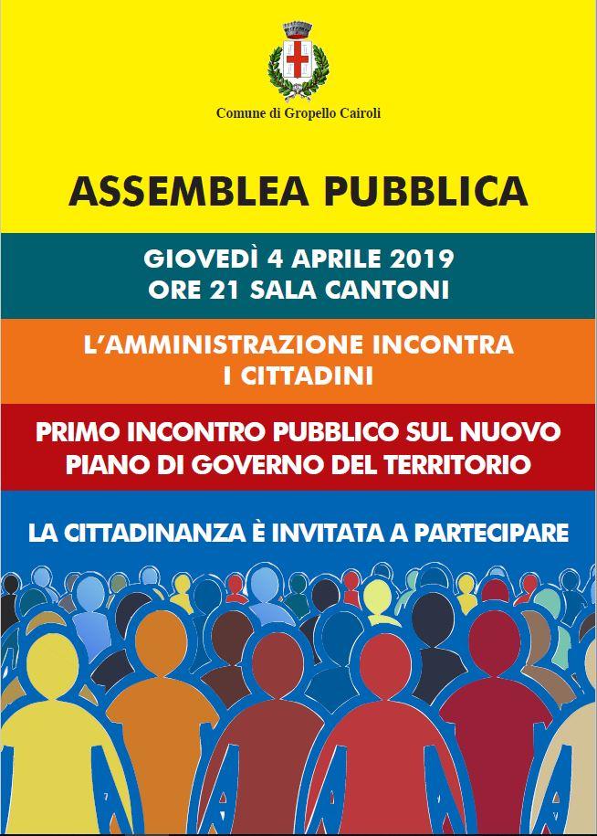 ASSEMBLEA PUBBLICA – 4 APRILE ORE 21