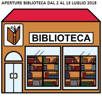 Biblioteca Aperture Luglio 2019