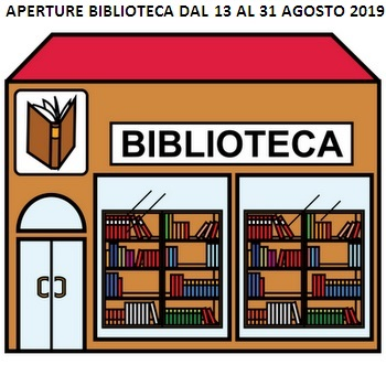 Avviso: APERTURA AL PUBBLICO DELLA BIBLIOTECA DAL 13 AL 31 AGOSTO