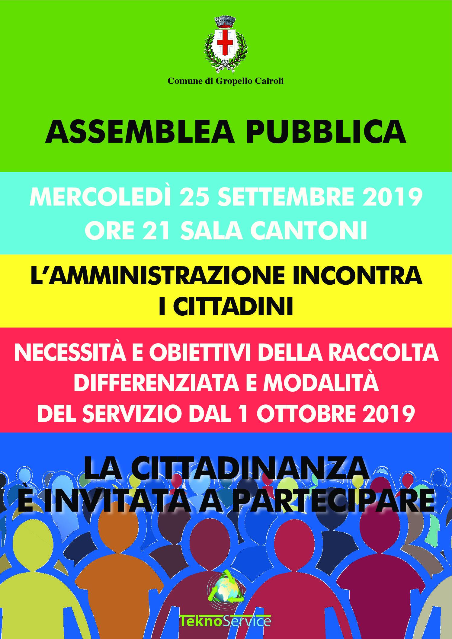 L'Amministrazione incontra i cittadini – Assemblea pubblica