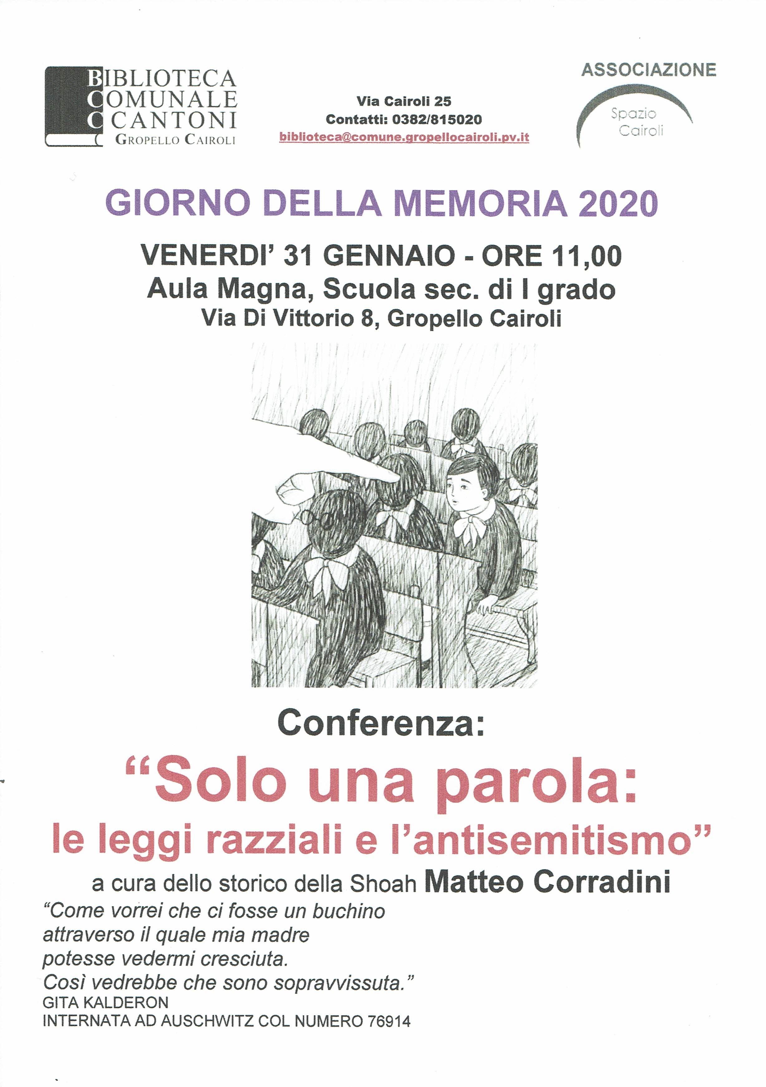 Conferenza Shoah A Cura Di Matteo Corradini 2020