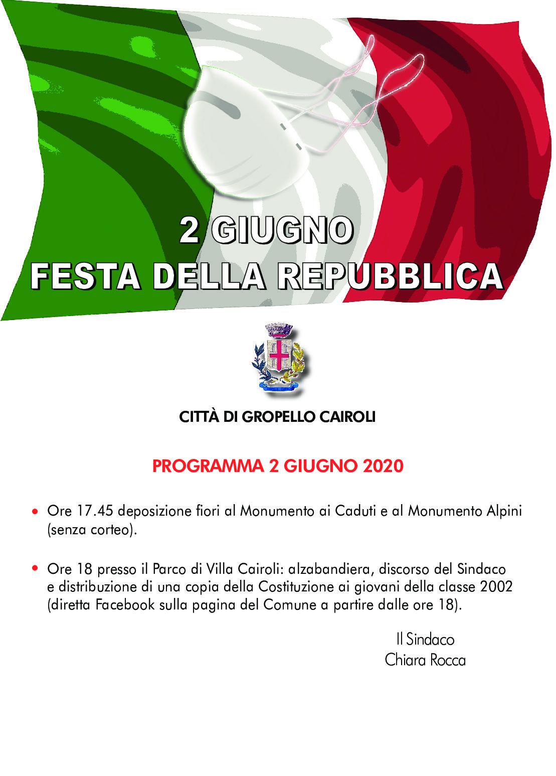 Anniversario fondazione della Repubblica, calendario delle celebrazioni in occasione della Festa Nazionale